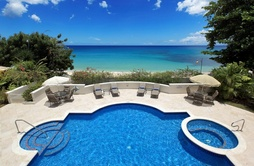 Fosters House, Barbados on the beach