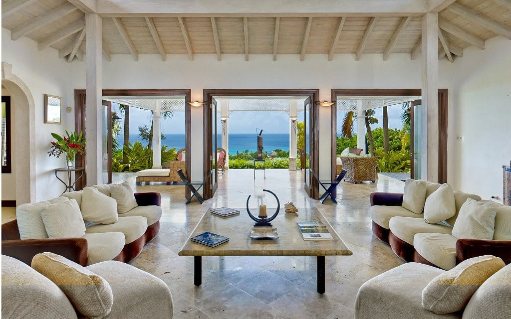 Views from the Barbados villa